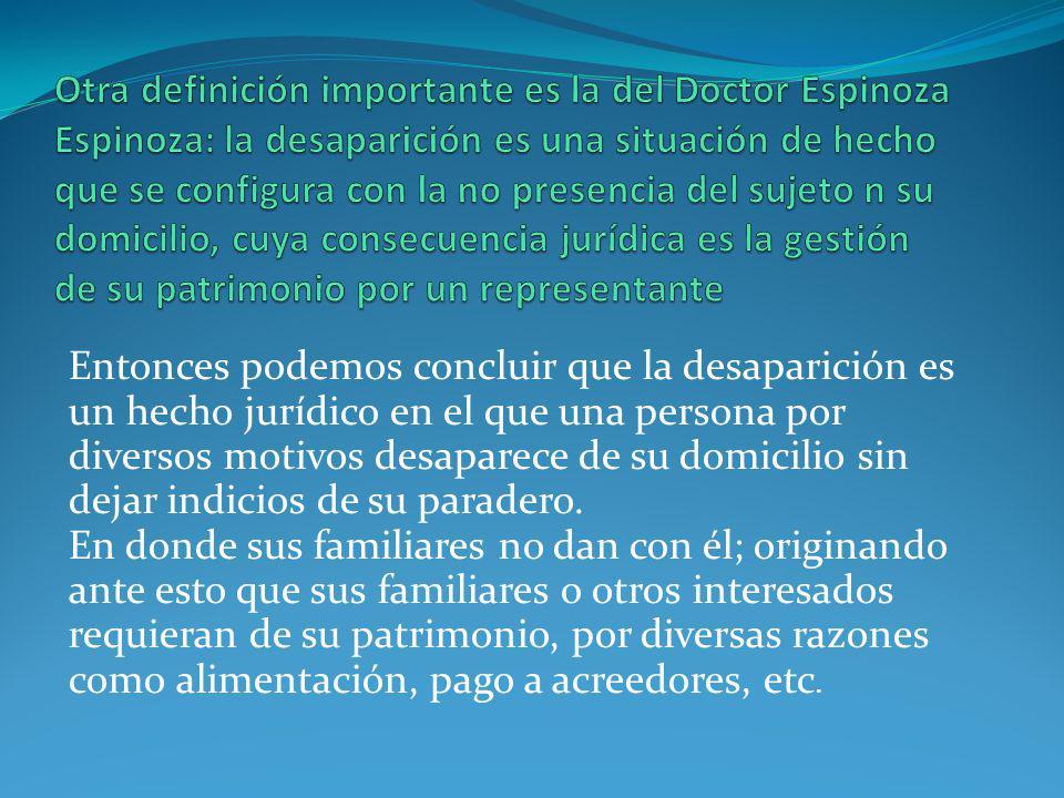 DECLARACION DE DESAPARICIÓN