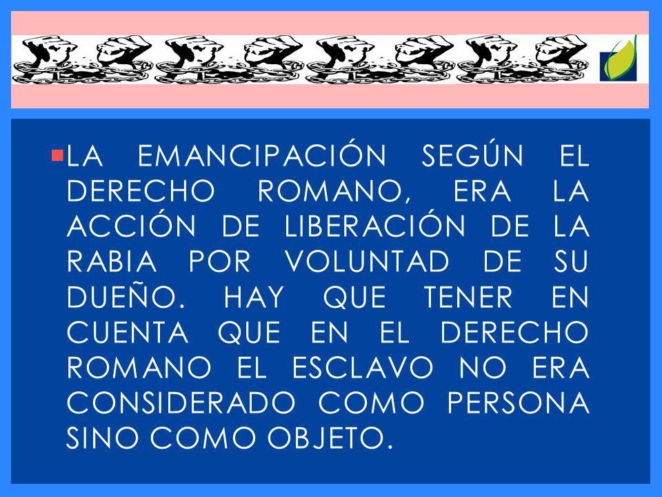 EN EL DERECHO CONTEMPORÁNEO, EL TÉRMINO SE USA ESPECÍFICAMENTE EN EL SENTIDO DE ATRIBUCIÓN A UN MENOR DE EDAD POR PARTE DE SUS PADRES O TUTORES LA TOTALIDAD, O LA MAYOR PARTE DE LOS DERECHOS Y FACULTADES CIVILES, QUE NORMALMENTE CONLLEVA LA MAYORÍA DE EDAD.