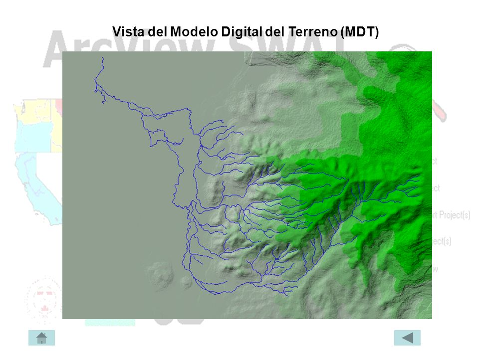 Vista del Modelo Digital del Terreno (MDT)