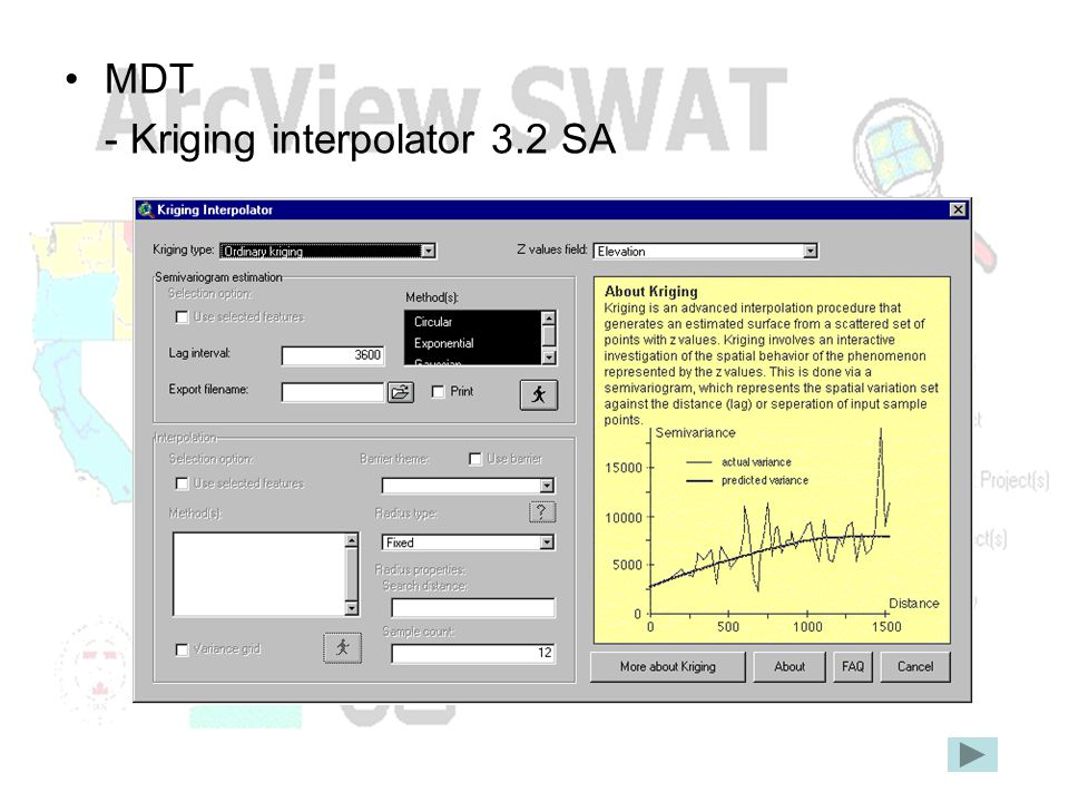 MDT - Kriging interpolator 3.2 SA