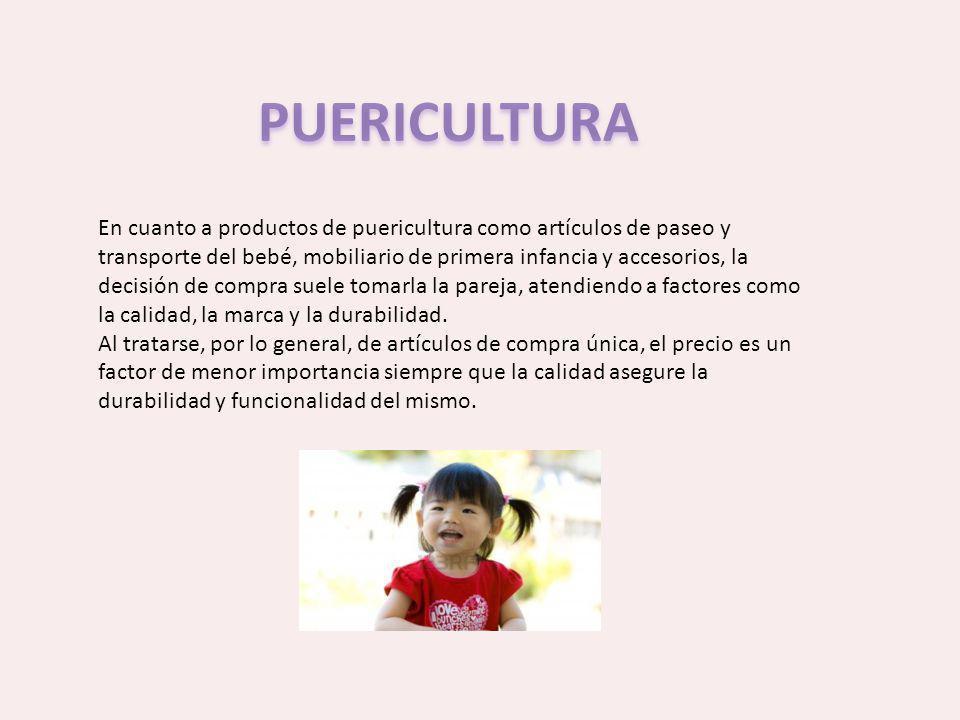 En cuanto a productos de puericultura como artículos de paseo y transporte del bebé, mobiliario de primera infancia y accesorios, la decisión de compr