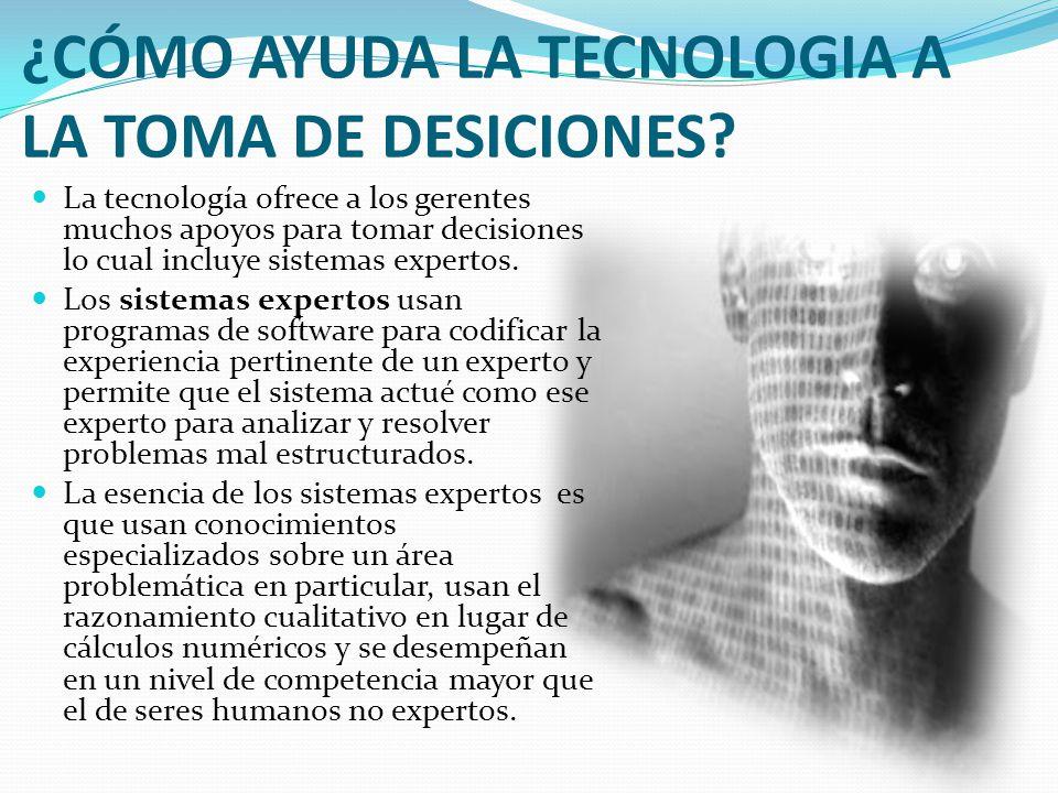 ¿CÓMO AYUDA LA TECNOLOGIA A LA TOMA DE DESICIONES.
