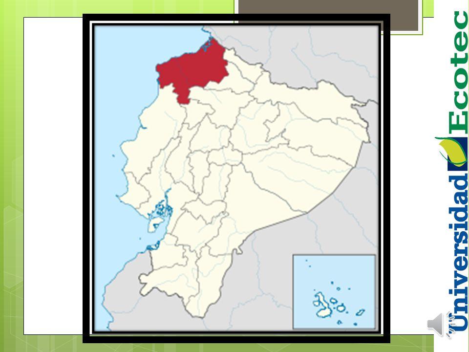 ESMERALDAS Ubicada en la frontera con Colombia. Hogar de la mayor comunidad afroecuatoriana del Ecuador. Esta provincia tiene 534 092 habitantes. Los