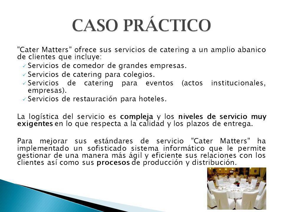 La dirección de Cater Matters , tras un análisis de la situación, ha decidido adoptar ITIL como la base de todos sus procesos y servicios.