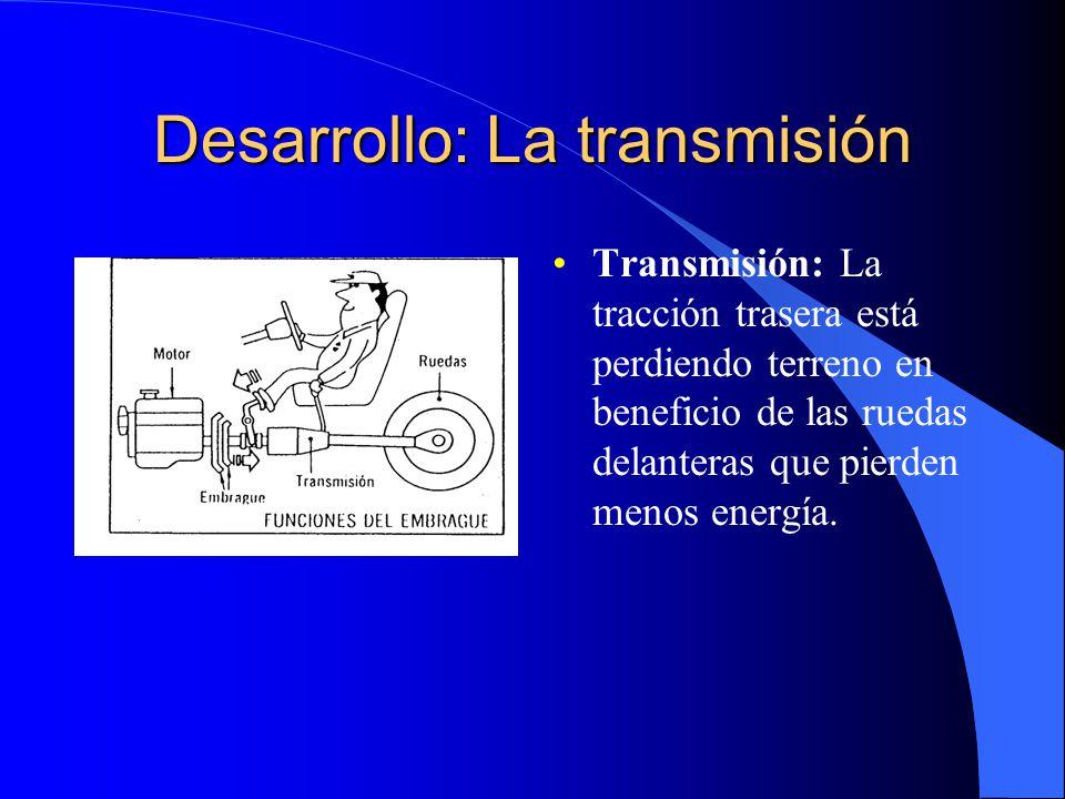 Desarrollo: Frenos y suspensión Frenos: Los frenos se han complementado con el sistema ABS y han visto llegar discos de carbono y cerámicos de gran resistencia.