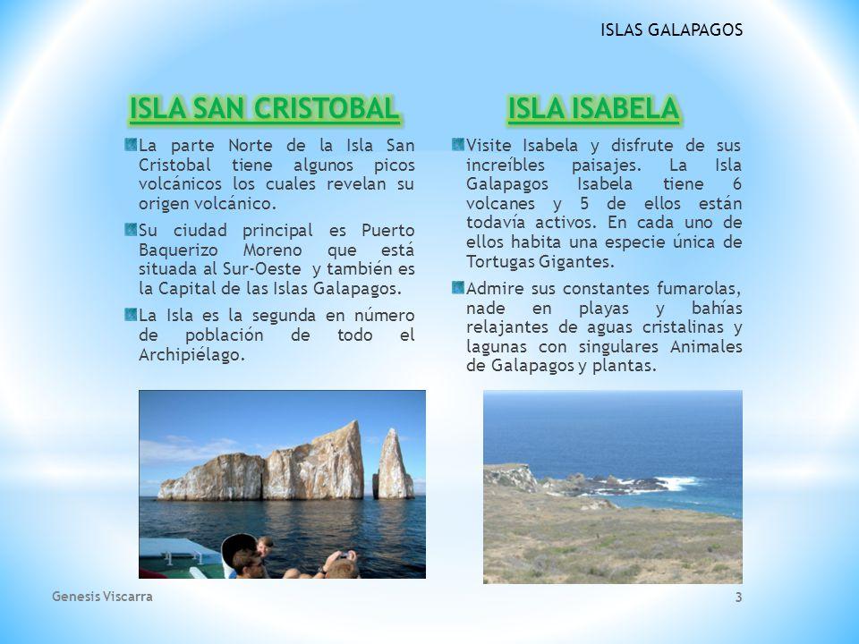 ISLAS GALAPAGOS La parte Norte de la Isla San Cristobal tiene algunos picos volcánicos los cuales revelan su origen volcánico.
