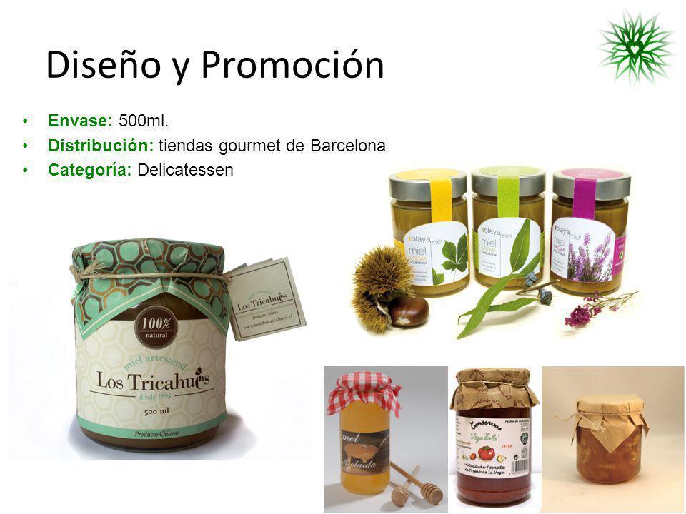 Diseño y Promoción Envase: 500ml. Distribución: tiendas gourmet de Barcelona Categoría: Delicatessen