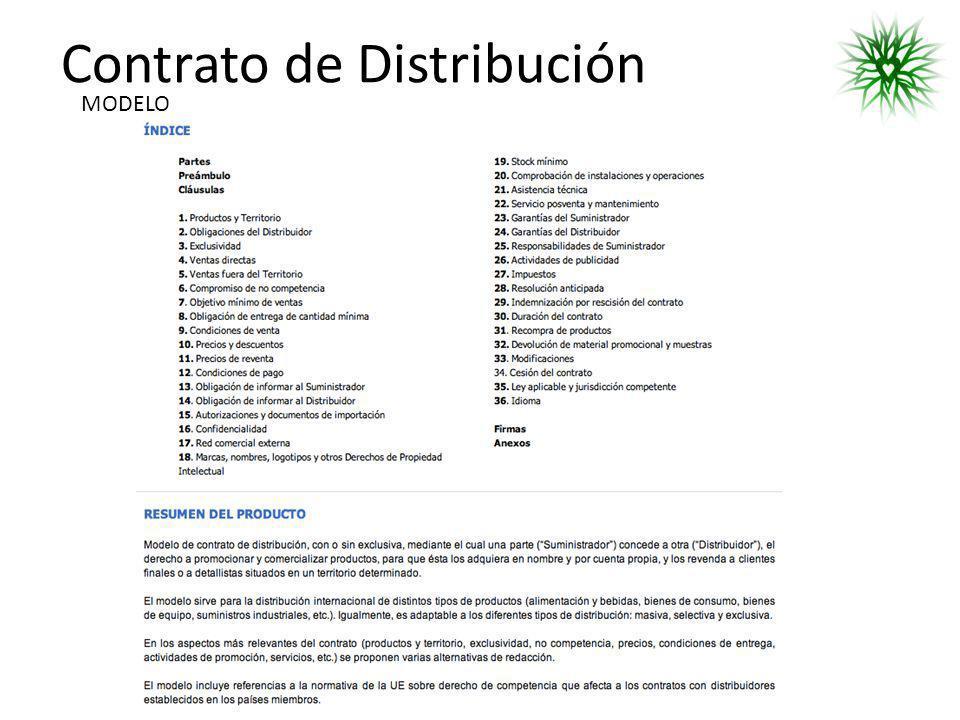 Contrato de Distribución MODELO