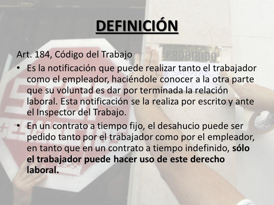 DEFINICIÓN Art.