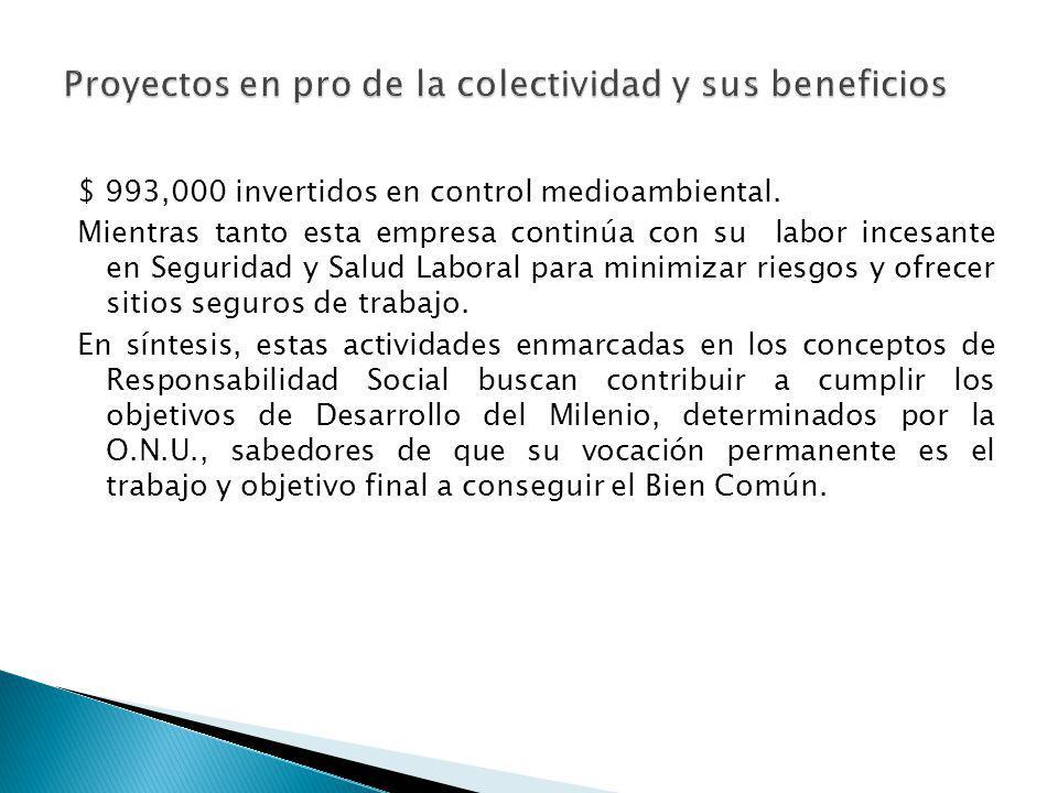 Beneficios Sociales del Proyecto: Sociedad Agrícola e Industrial San Carlos S.