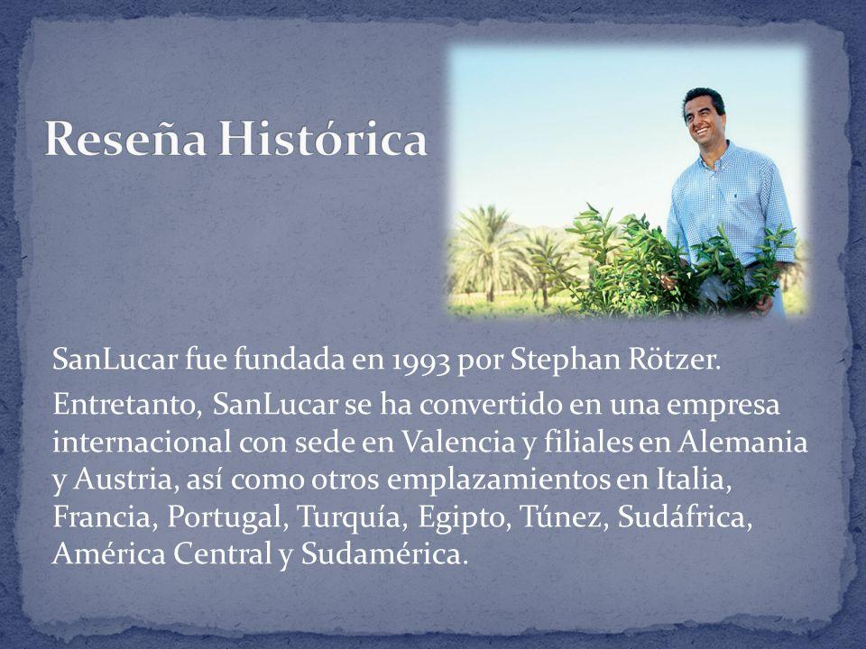 SanLucar fue fundada en 1993 por Stephan Rötzer. Entretanto, SanLucar se ha convertido en una empresa internacional con sede en Valencia y filiales en