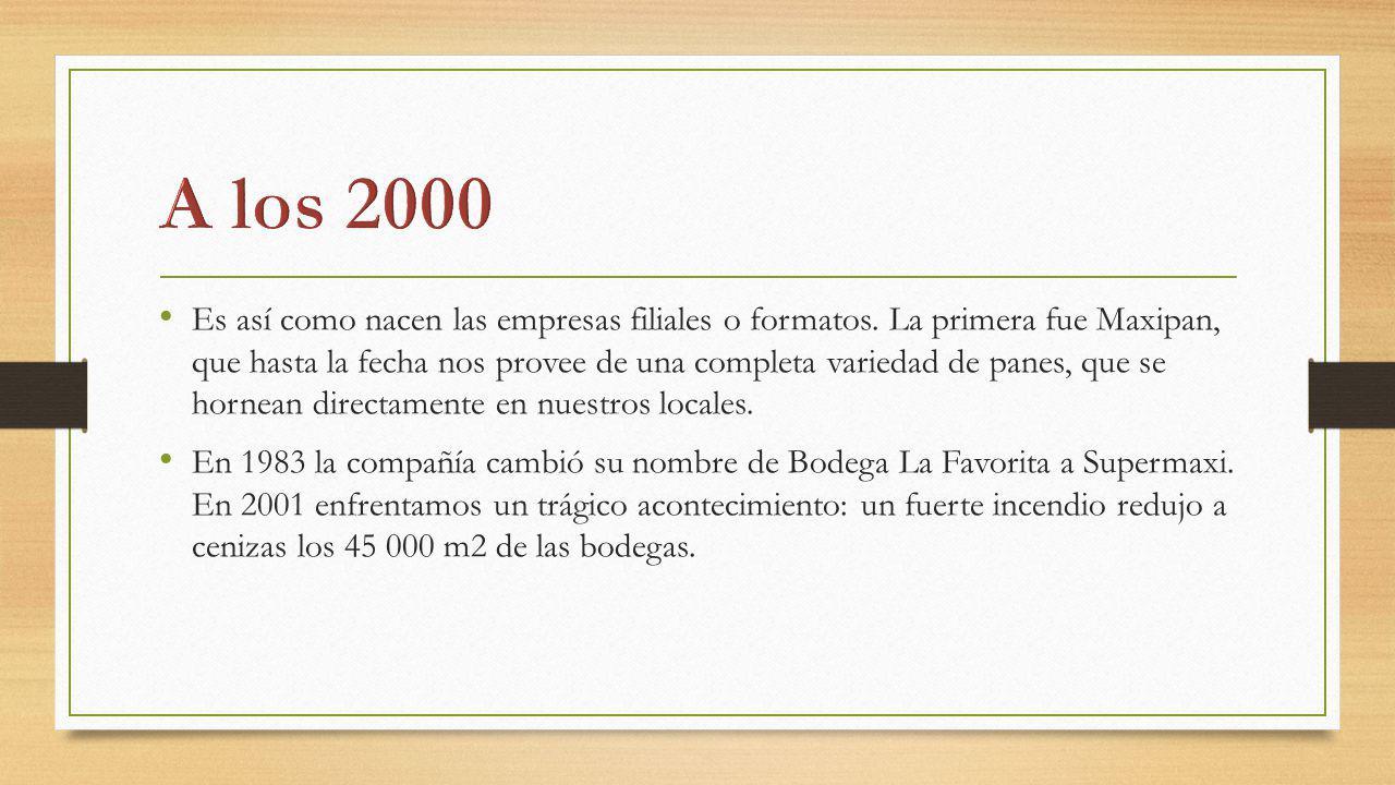 Pero nos levantamos con el ánimo renovado y en septiembre de 2002 se inauguró el moderno complejo administrativo y de bodegas en Amaguaña.
