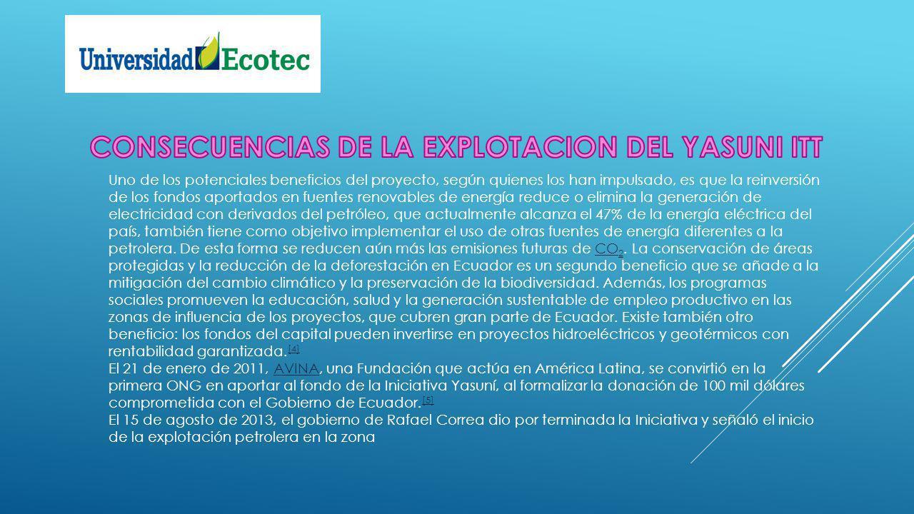 PETROLEO ERRADICACION DE LA POBREZA EN EL ECUADOR YASUNII ITT