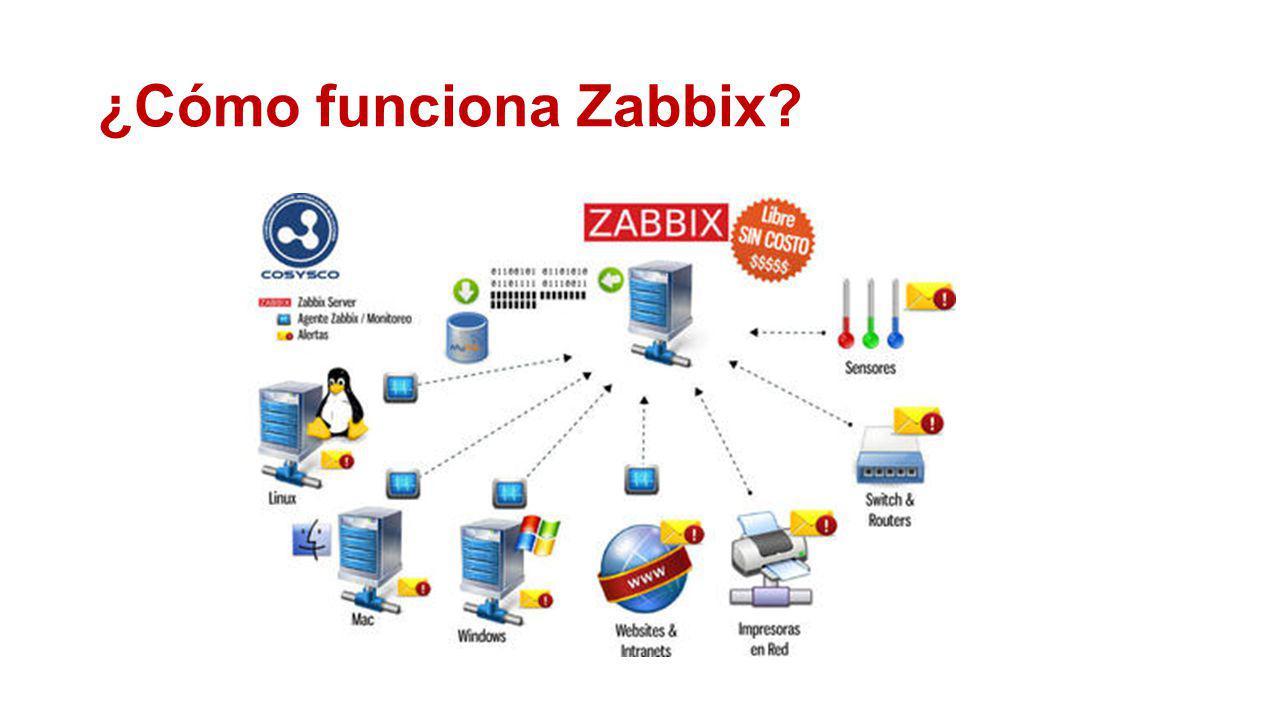 Zabbix le ofrece monitoreo para LAN, Redes locales y WAN, redes de área amplia.