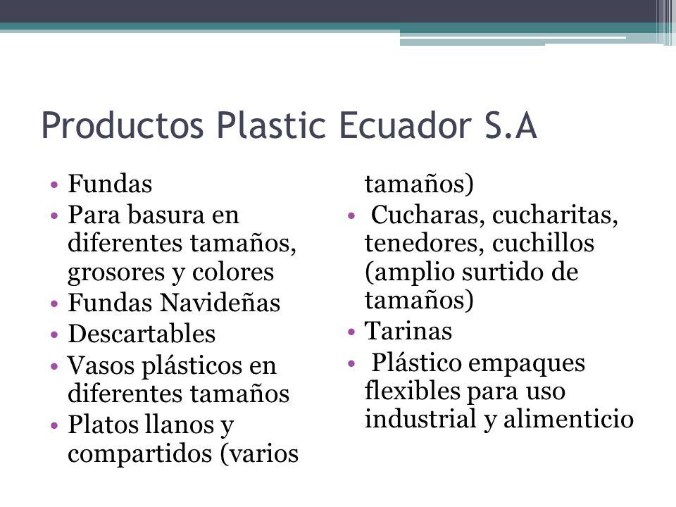 Productos Plastic Ecuador S.A Envases Tachos para basura Papeleros y Envases Tachos para basura Cajas plásticas Jarras Cestos Menaje Lavacaras Jaboneras Bandejas Cortinas de baño Mandiles (a pedido)