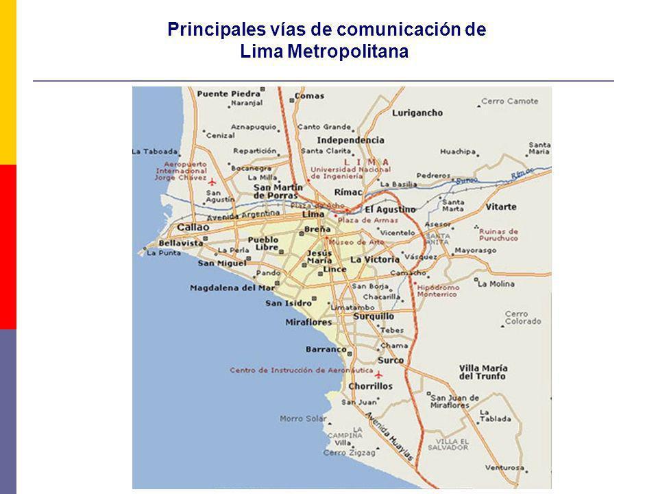Principales vías de comunicación de Lima Metropolitana