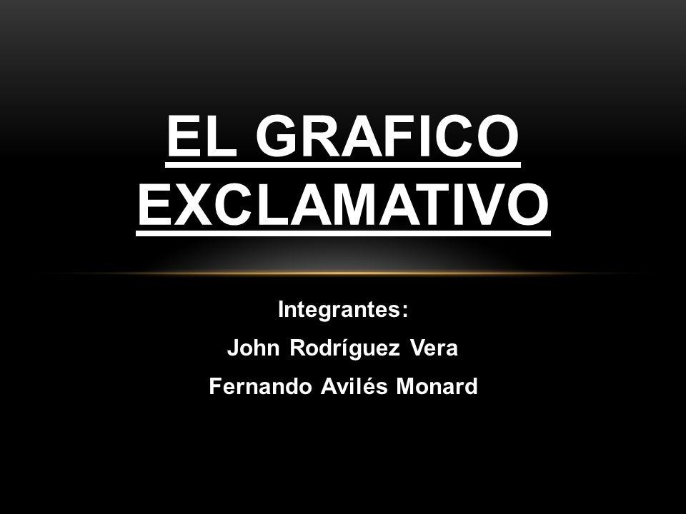 Integrantes: John Rodríguez Vera Fernando Avilés Monard EL GRAFICO EXCLAMATIVO