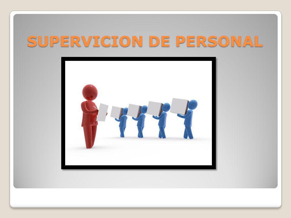 SUPERVICION DE PERSONAL