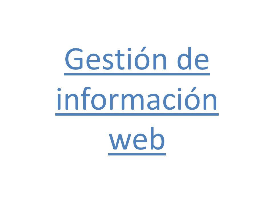 Gestión de información web