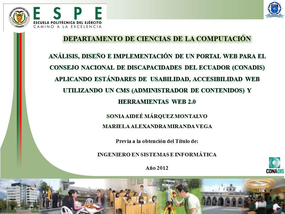Previa a la obtención del Título de: INGENIERO EN SISTEMAS E INFORMÁTICA Año 2012