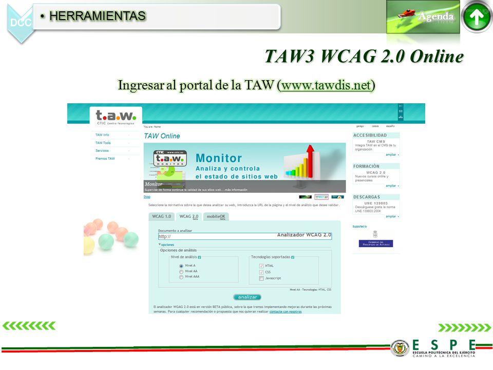 TAW3 WCAG 2.0 Online