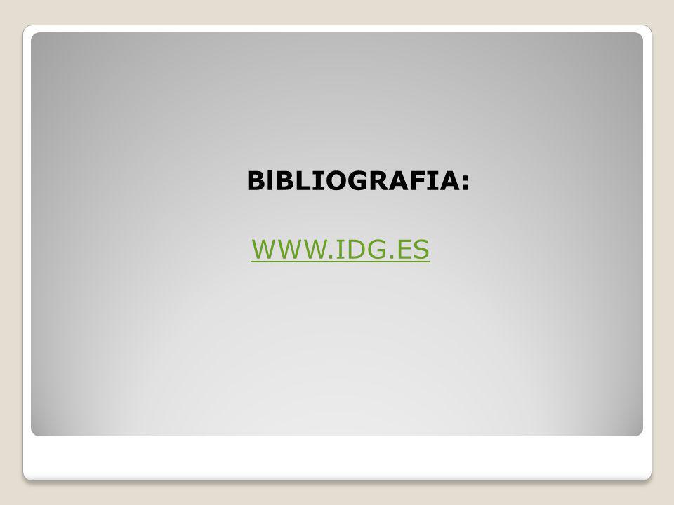 BlBLIOGRAFIA: WWW.IDG.ES