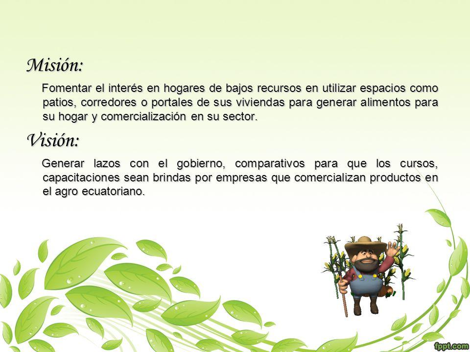Objetivo s:Objetivo s: -Producir alimentos sanos y de gran calidad nutricional.