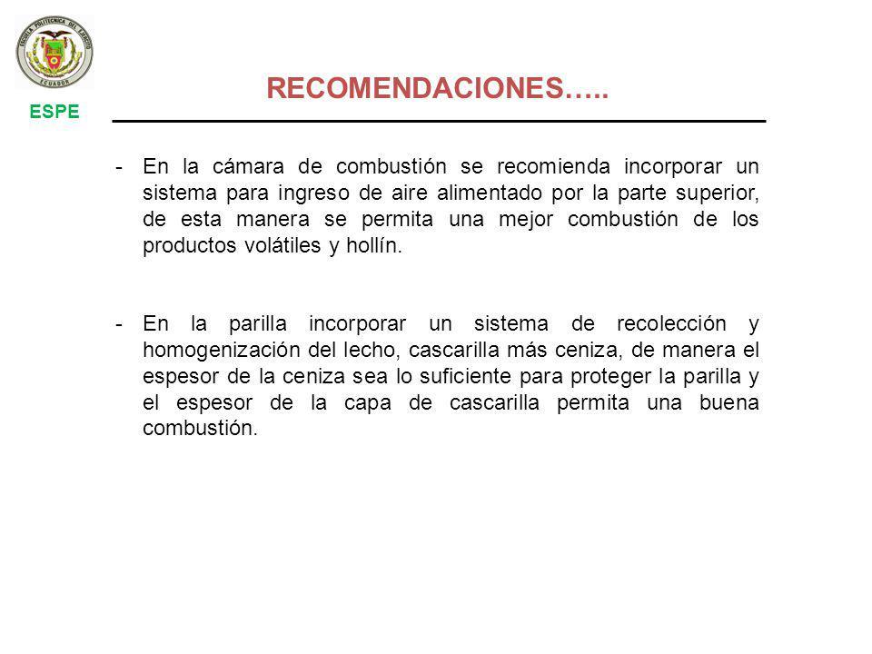 ESPE RECOMENDACIONES…..