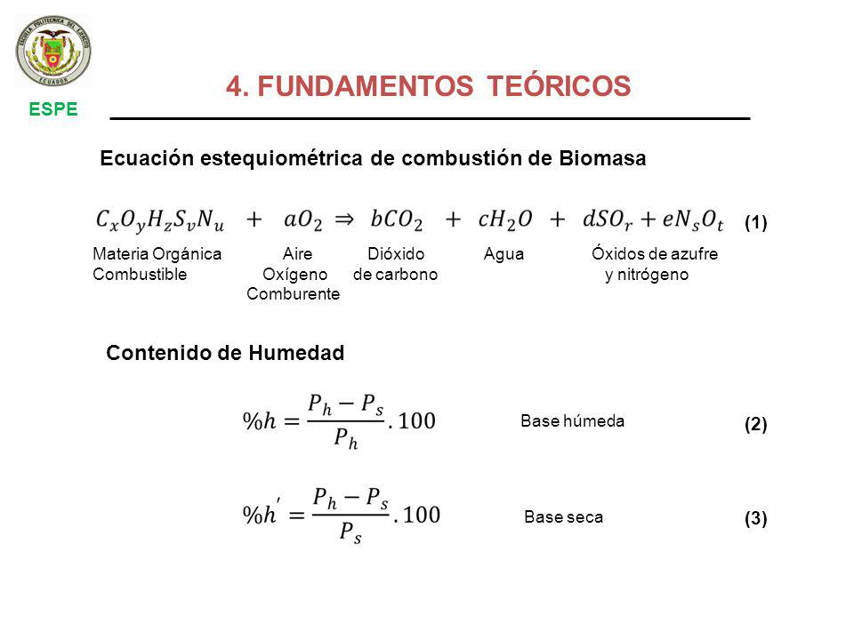 Conociendo la composición porcentual de los elementos químicos más importantes de la biomasa: carbono, oxigeno, hidrogeno y azufre (métodos de análisis químico), aplicando la siguiente formula, establecida por Dulong.
