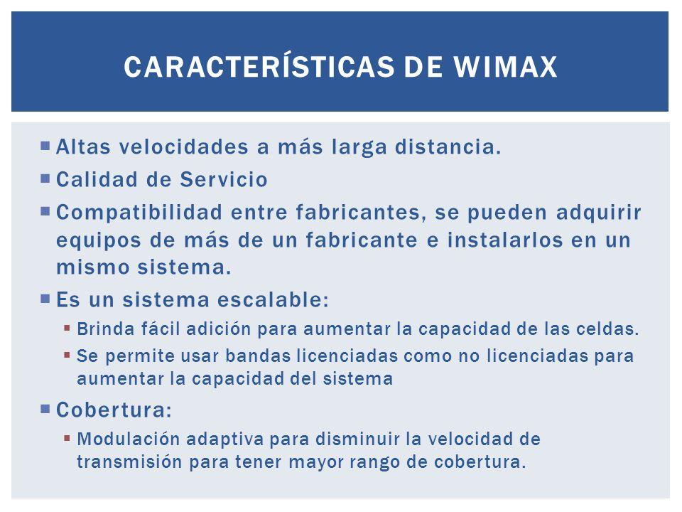 WiMax ofrece mayor alcance y más ancho de banda.