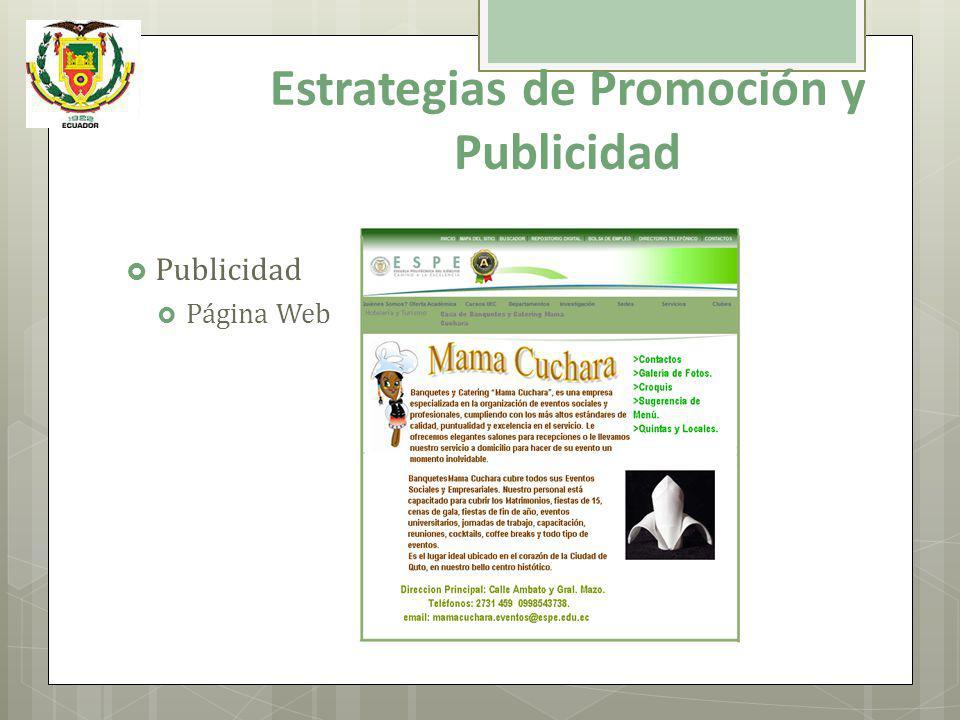 Publicidad Página Web Estrategias de Promoción y Publicidad