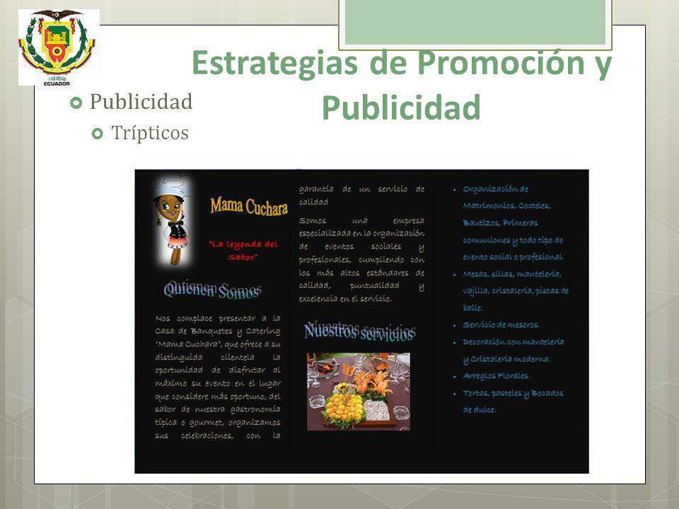 Publicidad Trípticos Estrategias de Promoción y Publicidad