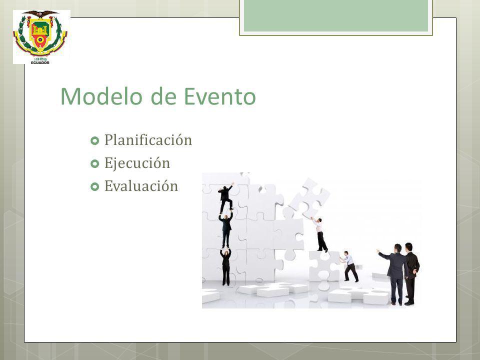 Modelo de Evento Planificación Ejecución Evaluación