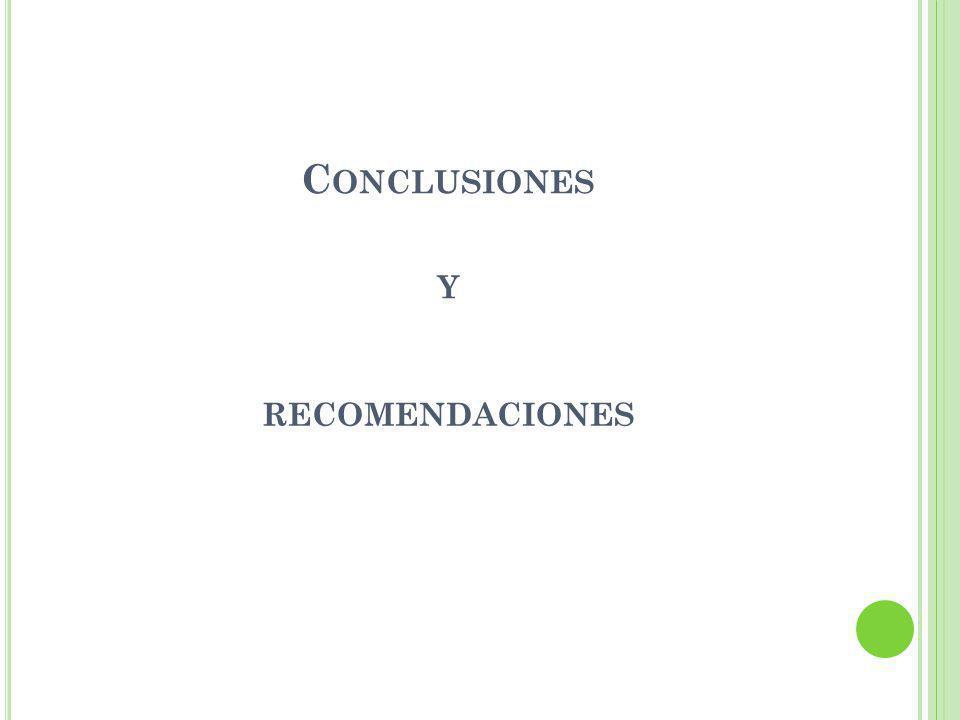 C ONCLUSIONES Y RECOMENDACIONES