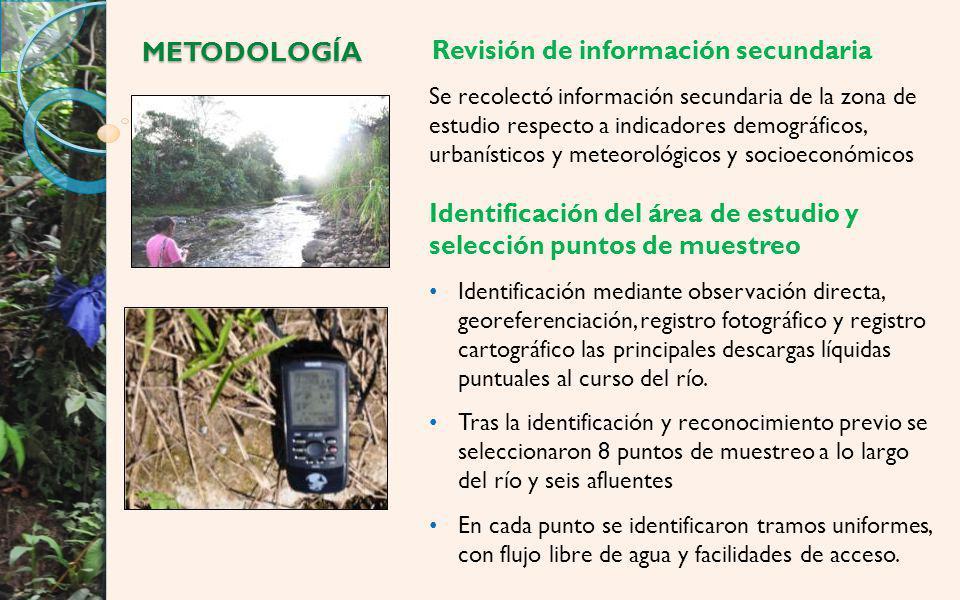 Modelamiento Materia Orgánica Punto N° Denominación DBO 5 * (promed io) L ** (DBO U ) (mg/L) Puntos en el Río Puyo 1Fátima2.682.70 2P.