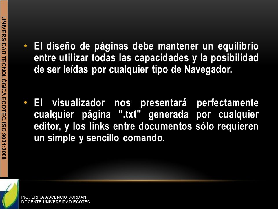 UNIVERSIDAD TECNOLÓGICA ECOTEC. ISO 9001:2008 ING.