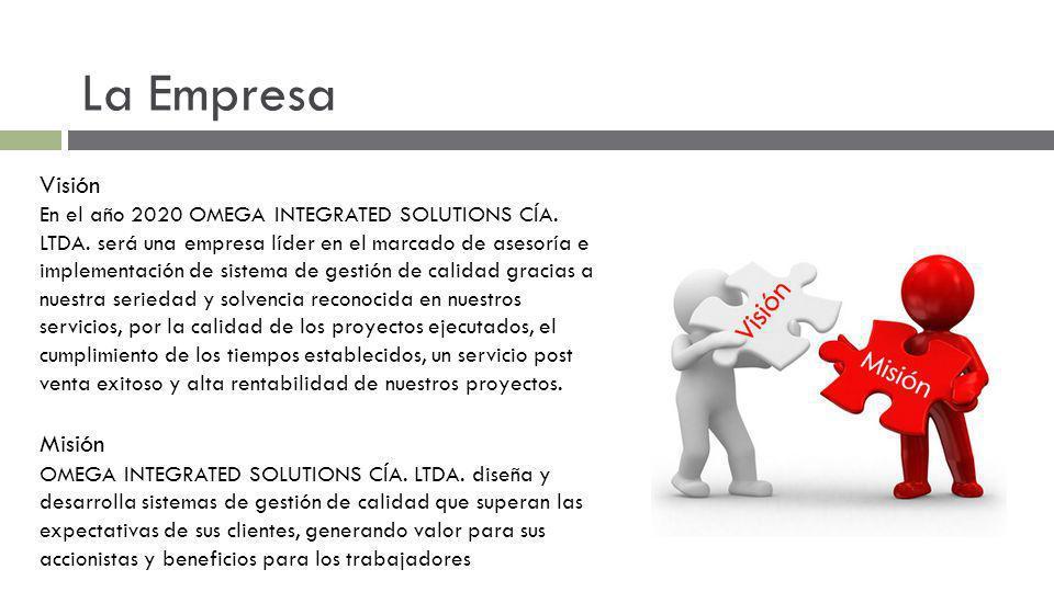 La Empresa Visión En el año 2020 OMEGA INTEGRATED SOLUTIONS CÍA. LTDA. será una empresa líder en el marcado de asesoría e implementación de sistema de