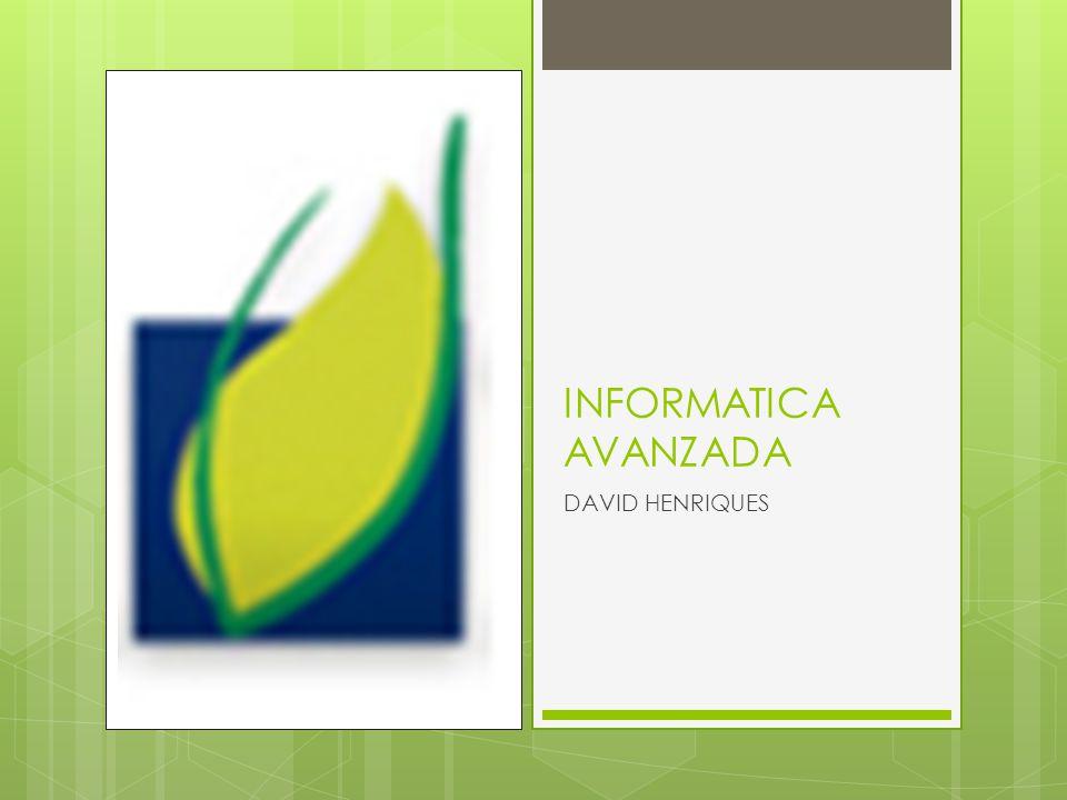 INFORMATICA AVANZADA DAVID HENRIQUES