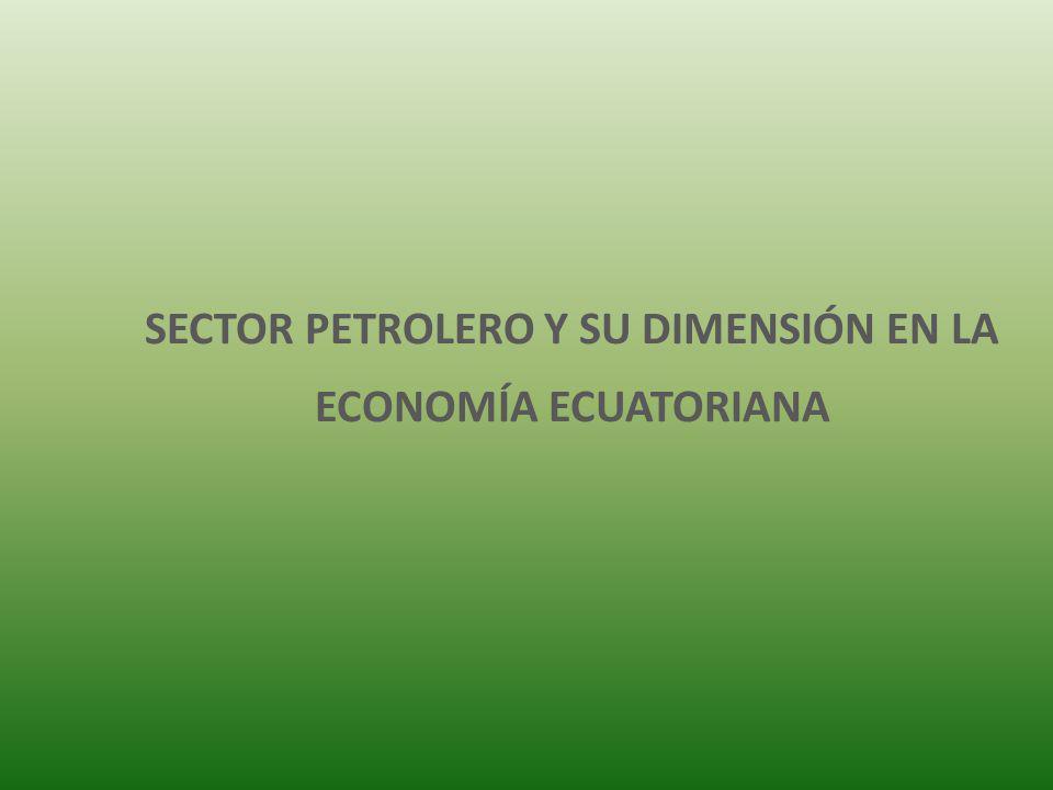 SECTOR PETROLERO Y SU DIMENSIÓN EN LA ECONOMÍA ECUATORIANA