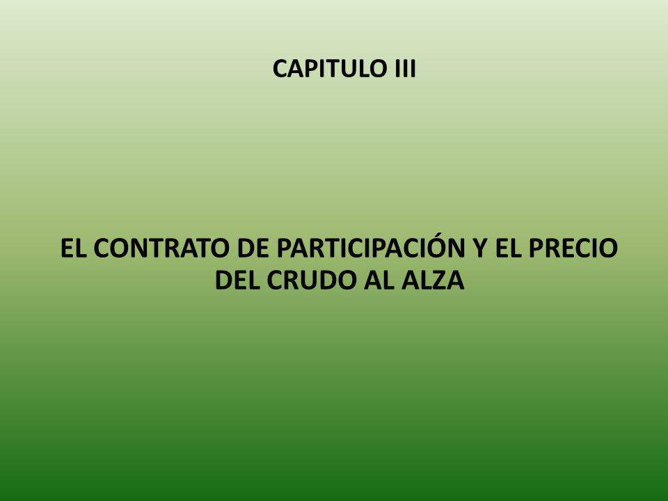 CAPITULO III EL CONTRATO DE PARTICIPACIÓN Y EL PRECIO DEL CRUDO AL ALZA