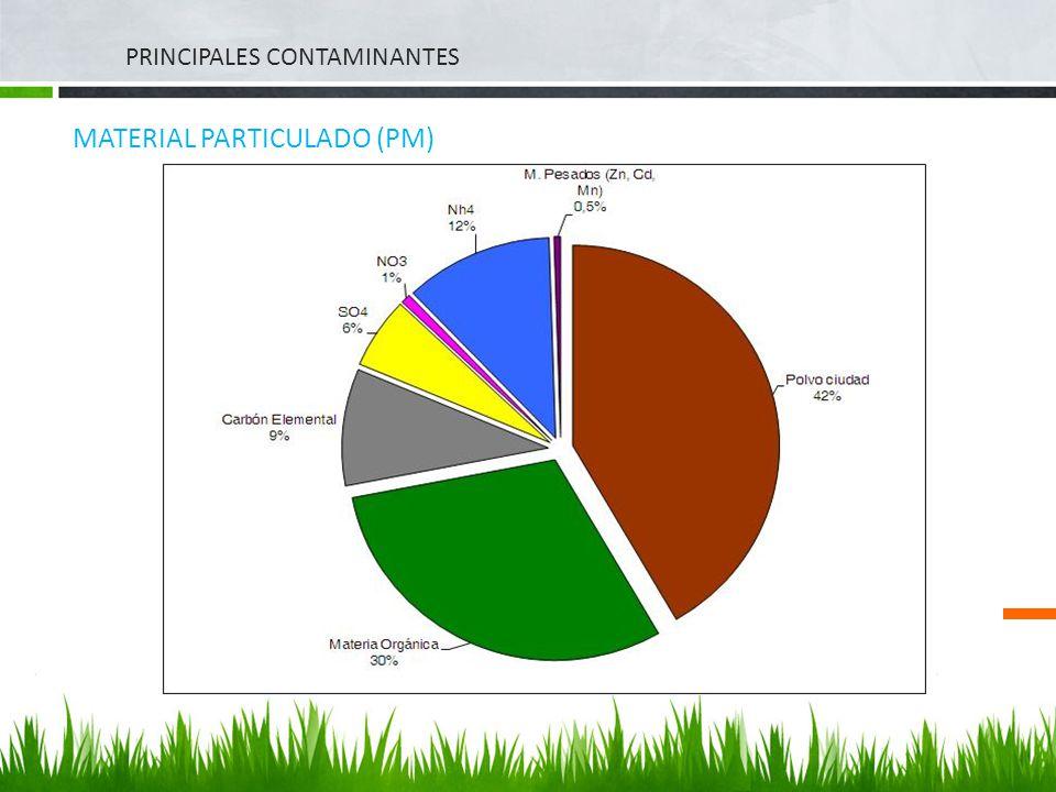 PRINCIPALES CONTAMINANTES MATERIAL PARTICULADO (PM)