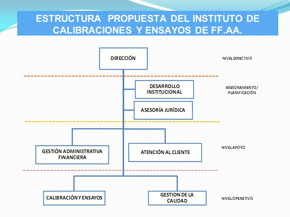 ESTRUCTURA PROPUESTA DEL INSTITUTO DE CALIBRACIONES Y ENSAYOS DE FF.AA.
