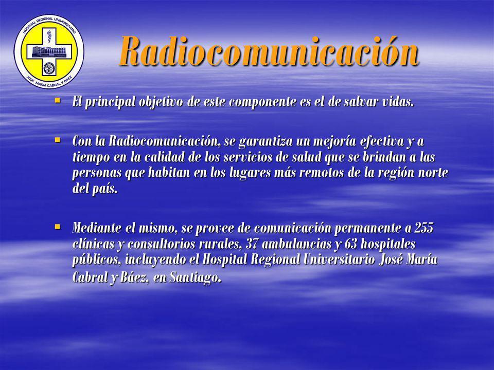 Radiocomunicación Radiocomunicación El principal objetivo de este componente es el de salvar vidas.