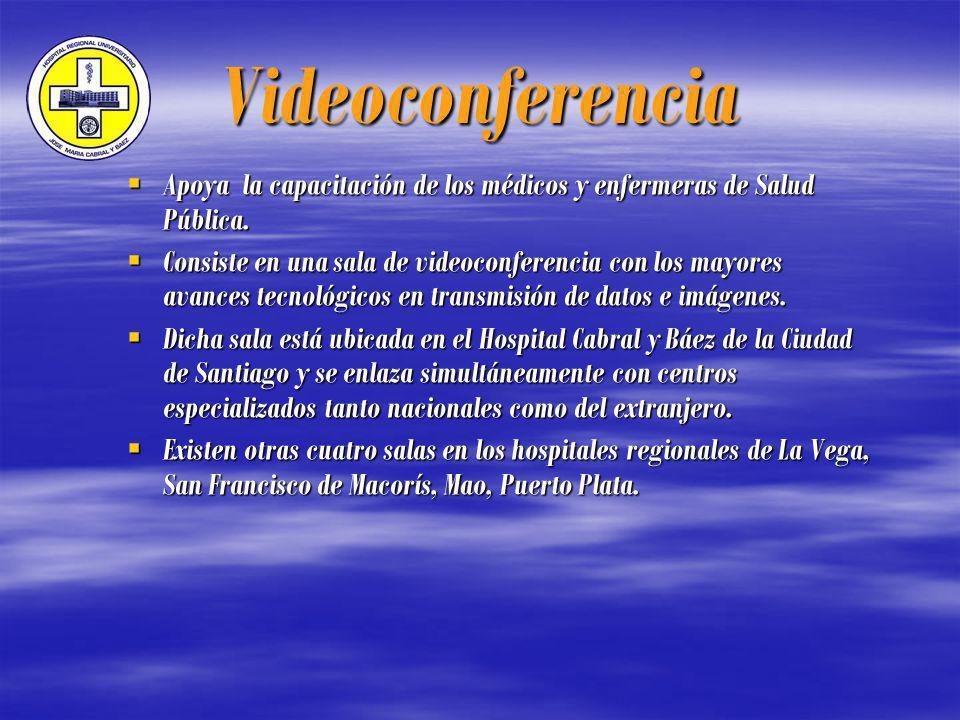 Videoconferencia Apoya la capacitación de los médicos y enfermeras de Salud Pública.