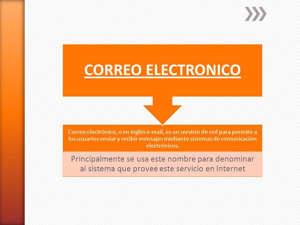 Correo electrónico, o en inglés e-mail, es un servicio de red para permitir a los usuarios enviar y recibir mensajes mediante sistemas de comunicación