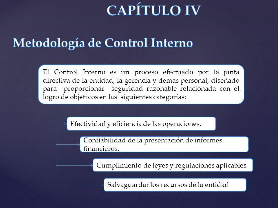 El Control Interno es un proceso efectuado por la junta directiva de la entidad, la gerencia y demás personal, diseñado para proporcionar seguridad ra