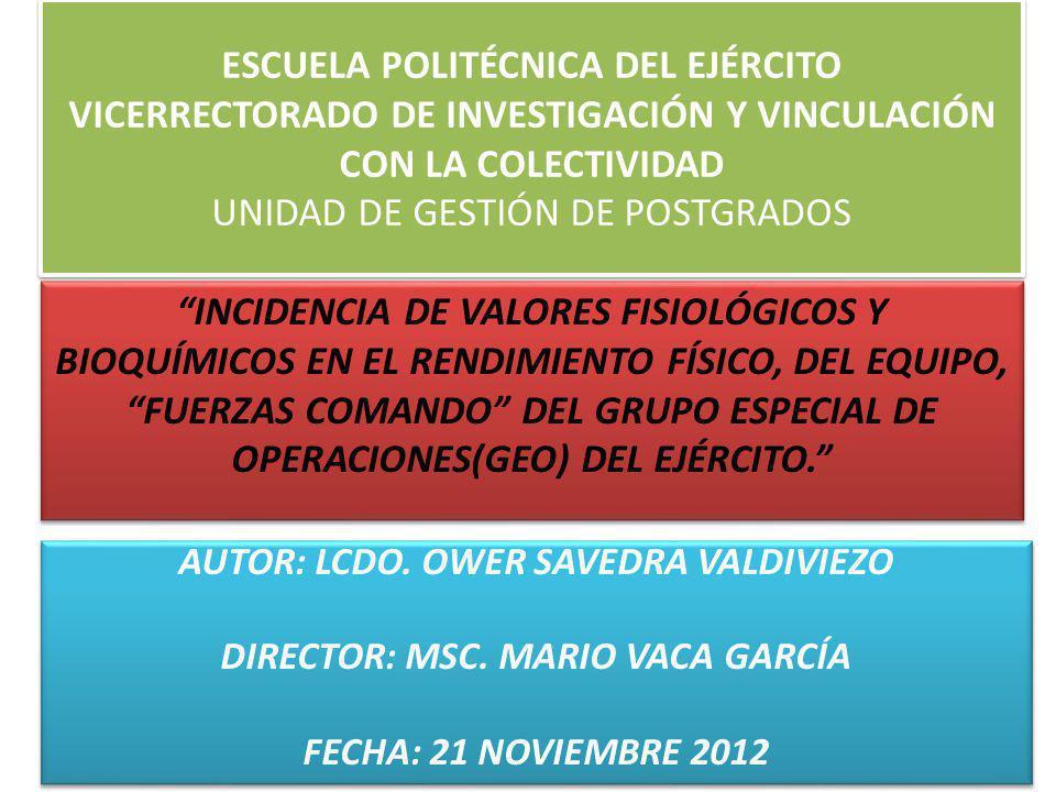 ESCUELA POLITÉCNICA DEL EJÉRCITO VICERRECTORADO DE INVESTIGACIÓN Y VINCULACIÓN CON LA COLECTIVIDAD UNIDAD DE GESTIÓN DE POSTGRADOS INCIDENCIA DE VALOR