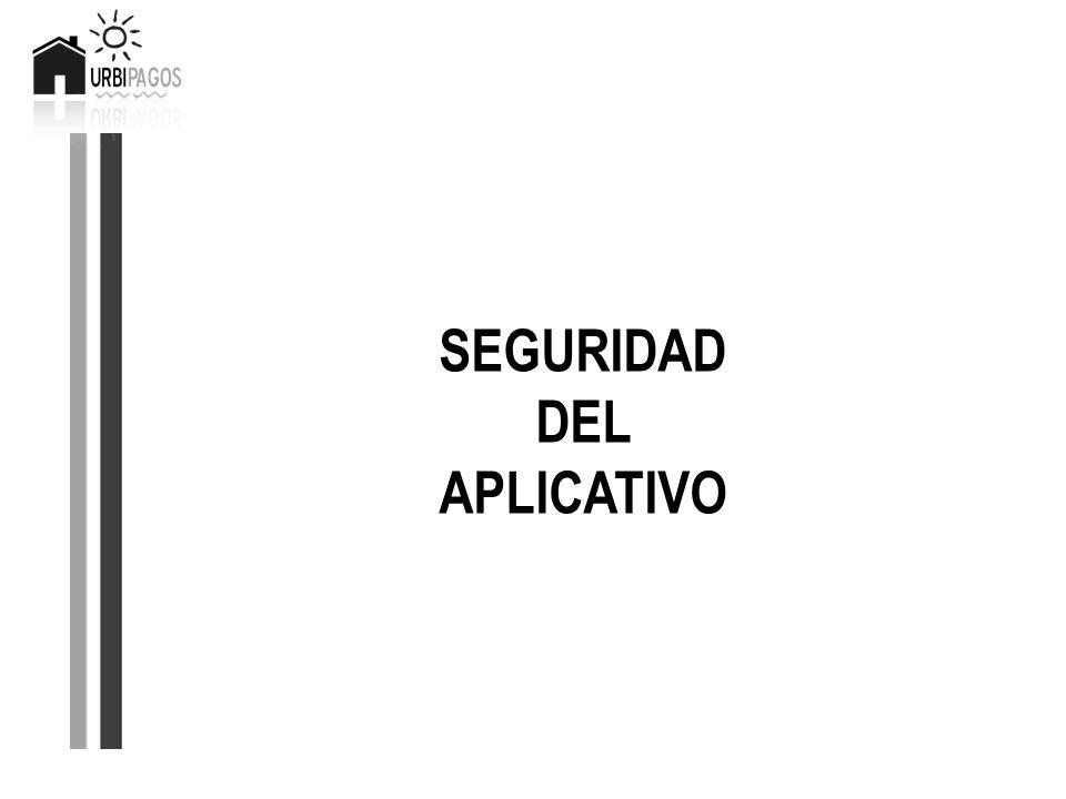 SEGURIDAD DEL APLICATIVO