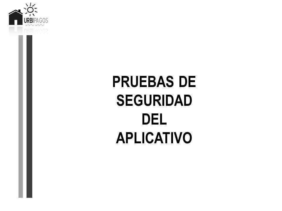 PRUEBAS DE SEGURIDAD DEL APLICATIVO