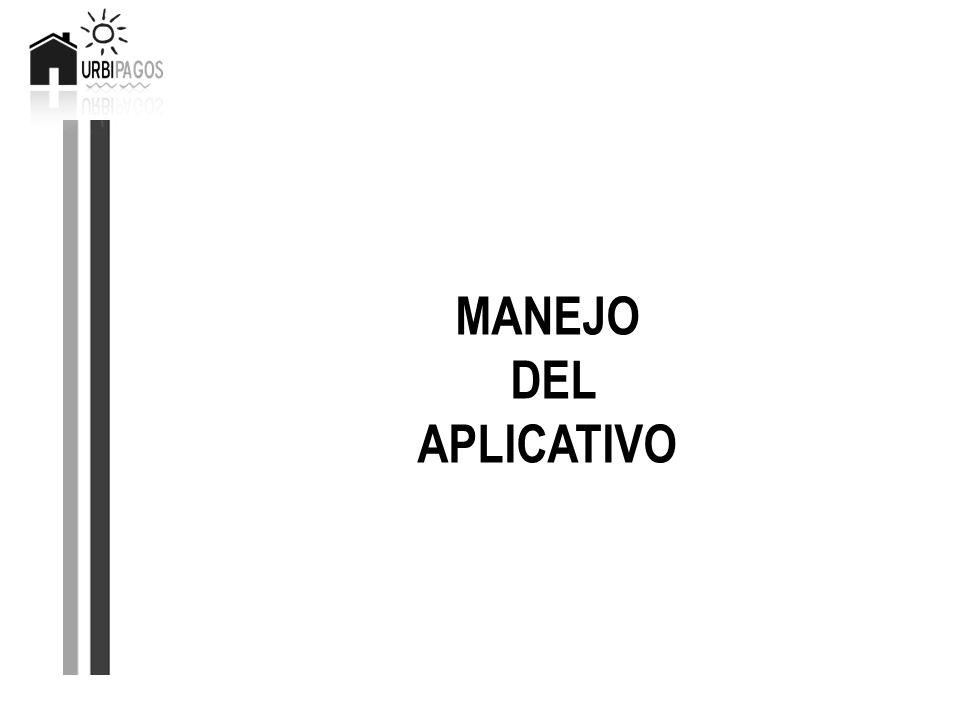 MANEJO DEL APLICATIVO